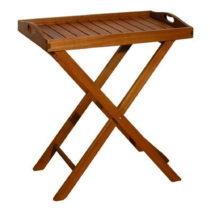 Záhradný odkladací stolík z eukalyptového dreva ADDU Da...