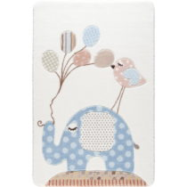 Detský svetlomodrý koberec Confetti Spotty Elephant, 133×&#...