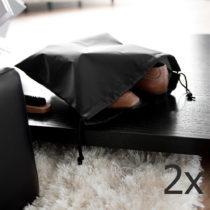 Sada 2 čiernych vreciek na obuv Compactor Bags