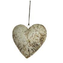 Závesná dekorácia v tvare srdca Antic Line Beige