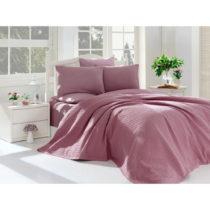 Fialový posteľný set z bavlny na dvojlôžko, 220 &...