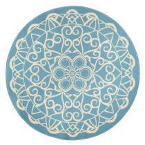 Modrý okrúhly koberec Zala Living Capri, ø140cm