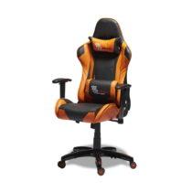 Čierno-oranžová kancelárska stolička Furnhouse Gamin...