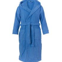 Modrý unisex župan z čistej bavlny Casa Di Bassi, S / M