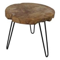 Odkladací stolík z teakového dreva HSM Collection Helen, ⌀ 55 ...