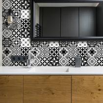 Sada 30 nástenných samolepiek Ambiance Decal Tiles Azulejos Rosario, 10 ×...