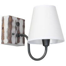 Nástenné svietidlo s drevenými detailmi Glimte Thor II Light Lampshade Un...