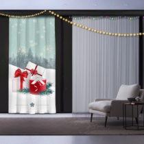 Vianočný záves Christmas Gift with Ribbon, 140 x 260 cm