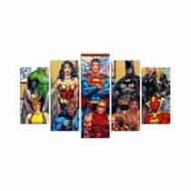 5-dielny obraz Super Heroes