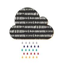 Dekoratívna samolepiaca nástenka Dekornik Black Cloud With Colorful Drops, 57&...