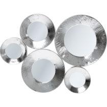 Nástenné zrkadlo v striebornej farbe Kare Design Circolo