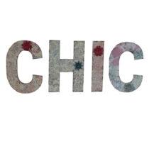 Závesné písmená Antic Line CHIC