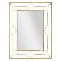 Nástenné zrkadlo v zlatej farbe Mauro Ferretti Balcony, 63 x 83 cm