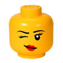 Žltý úložný box v tvare hlavy LEGO® Winky, &...