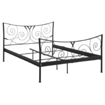 Čierna dvojlôžková kovová posteľ St&#xF...