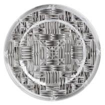Plastový tanier v striebornej farbe InArt, ⌀36 cm