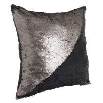 Čierny vankúš s detailom v medenej farbe InArt, 45×&...