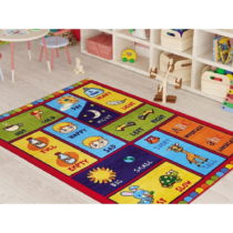 Detský koberec Opposites Red, 290 × 200 cm