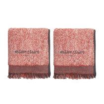 Sada 2 červených uterákov Marie Claire Colza, 40 × 60 cm