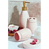 Set ružových kúpeľňových doplnkov Boho