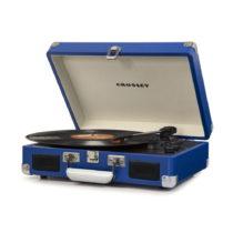 Tmavomodrý gramofón Crosley Cruiser Deluxe