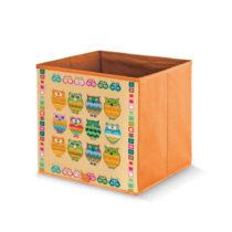 Oranžový úložný box Domopak Stamps, dĺ&...