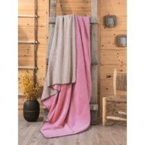 Ružovo-béžová deka Sandra, 200×22...