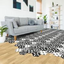 Sada 10 samolepiek na podlahu Ambiance Floor Stickers Hexagons Manoela, 40×&#...