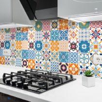Sada 30 nástenných samolepiek Ambiance Cement Tiles Liliana, 10 × 10 cm