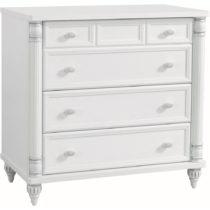 Biela šatníková skriňa Romantic Dresser