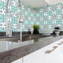 Sada 60 nástenných samolepiek Ambiance Wall Decal Cement Tiles Paco, 15&...