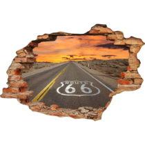 Samolepka na stenu Ambiance Route 66, 60×90 cm