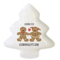 Dekoratívna tácka z kostného porcelánu s vianočn&#...