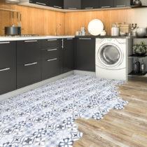 Sada 10 samolepiek na podlahu Ambiance Floor Stickers Hexagons Vitorio, 40×&#...
