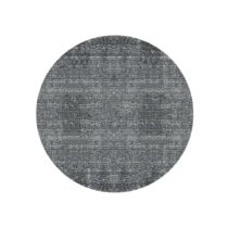 Čierny bavlnený koberec PT LIVING Washed, Ø150cm
