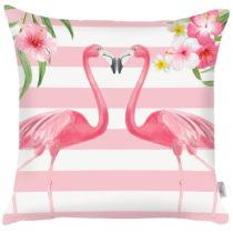 Ružová obliečka na vankúš Apolena Lovely Flamingos, ...