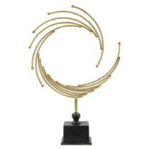 Dekoratívna soška zo železa v zlatej farbe Mauro Ferretti Round