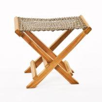 Sada 2 béžových skladacích stoličiek z teakov&#xE...