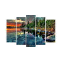 5-dielny obraz na plátne Forrest