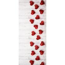 Vysokoodolný koberec Webtappeti Hearts, 58×80cm