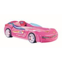Ružová detská posteľ v tvare auta Biturbo Carbed Pink, 90 &...