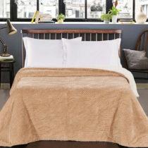 Krémový obojstranný pléd na posteľ DecoKing Lamby, 210...