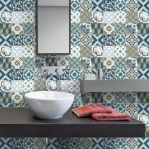 Sada 30 nástenných samolepiek Ambiance Wall Stickers Cement Tiles Azulejos Vicenzo...