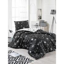 Čierne obliečky s plachtou na jednolôžko Starry Night, 160 &a...