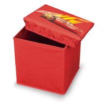 Červená úložná taburetka na hračky Domopak ...