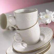 Sada 6 porcelánových hrnčekov s podšálkami Kutahya Si...