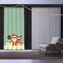 Vianočný záves Christmas Crew, 140 x 260 cm