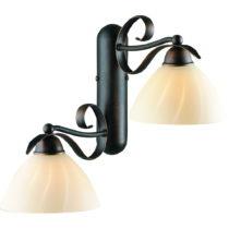 Dvojramenné nástenné svietidlo Glimte Vento