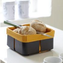 Čierno-oranžový košík na chlieb Steel Function Roma
