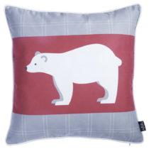 Červeno-sivá obliečka na vankúš Apolena Honey Polar ...